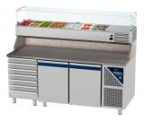 Pizzavorbereitungstisch 2500 x 800 x 850 / 1550 mm